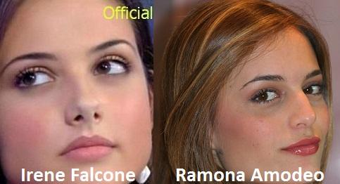 Somiglianza tra Irene Falcone e Ramona Amodeo