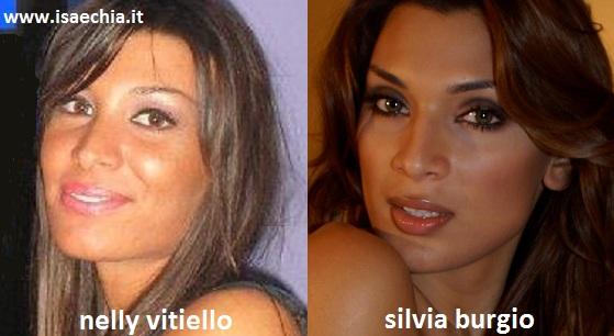 Somiglianza tra Nelly Vitiello e Silvia Burgio