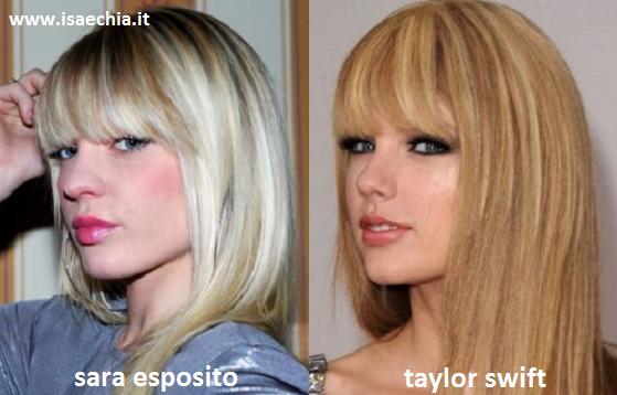 Somiglianza tra Sara Esposito e Taylor Swift