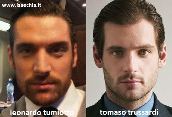 Somiglianza tra Tomaso Trussardi e Leonardo Tumiotto