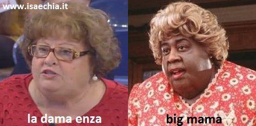 Somiglianza tra la dama Enza e Big Mama