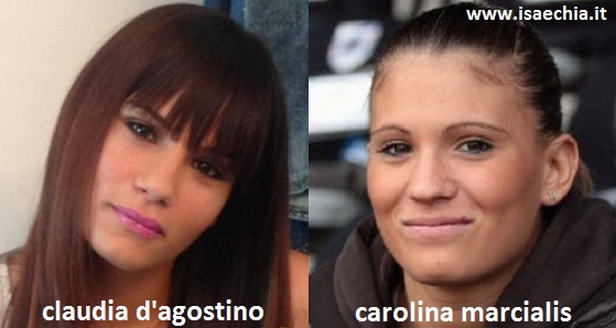 Somiglianza tra Claudia D'Agostino e Carolina Marcialis