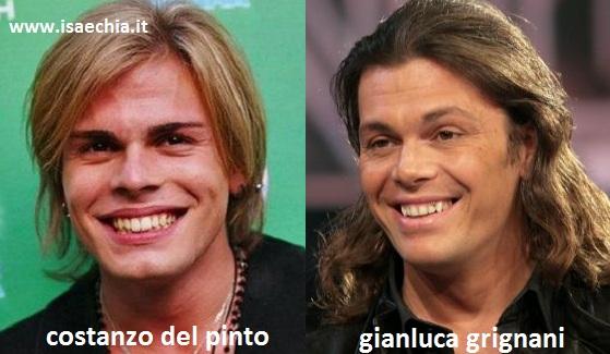 Somiglianza tra Costanzo Del Pinto e Gianluca Grignani