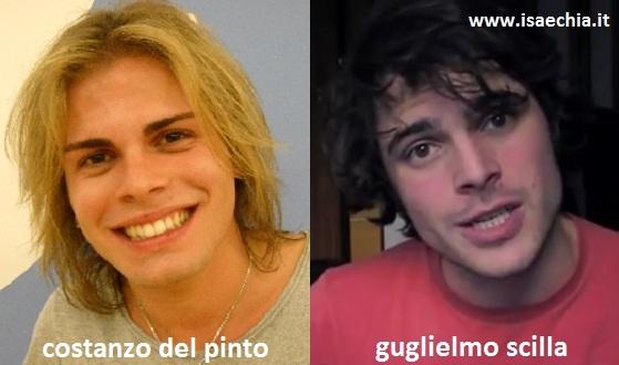 Somiglianza tra Costanzo Del Pinto e Guglielmo Scilla