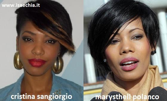 Somiglianza tra Cristina Sangiorgio e Marysthell Polanco
