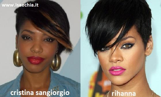 Somiglianza tra Cristina Sangiorgio e Rihanna