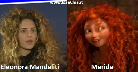 Somiglianza tra Eleonora Mandaliti e Merida