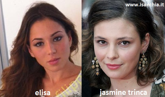 Somiglianza tra Elisa e Jasmine Trinca