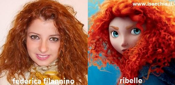 Somiglianza tra Federica Filannino e Ribelle