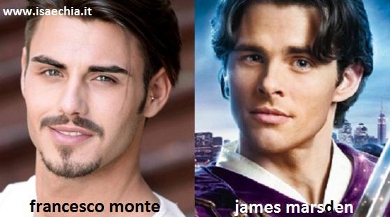 Somiglianza tra Francesco Monte e James Marsden