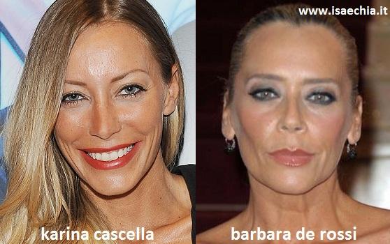 Somiglianza tra Karina Cascella e Barbara De Rossi