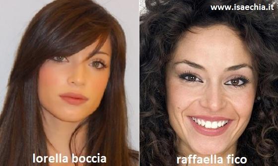 Somiglianza tra Lorella Boccia e Raffaella Fico