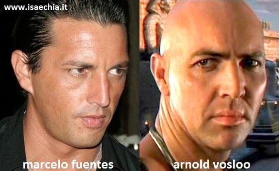 Somiglianza tra Marcelo Fuentes e Arnold Vosloo