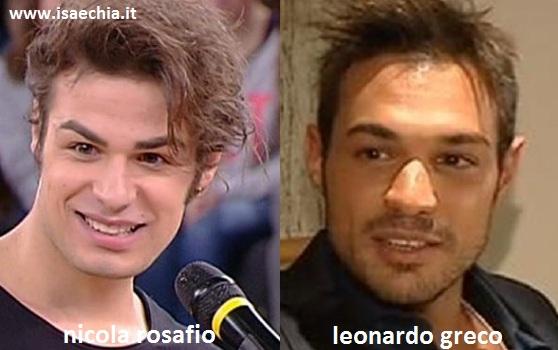 Somiglianza tra Nicola Rosafio e Leonardo Greco