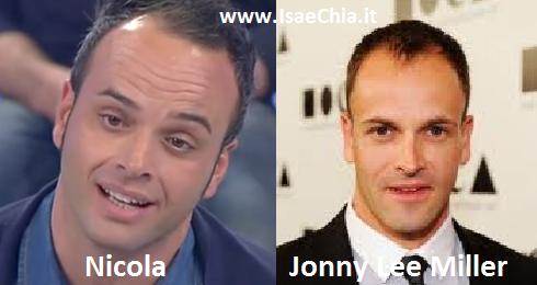 Somiglianza tra Nicola del Trono under e Jonny Lee Miller