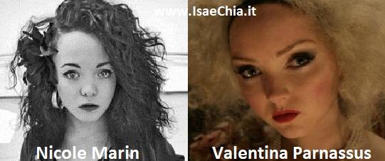 Somiglianza tra Nicole Marin e Valentina Parnassus