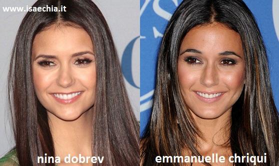 Somiglianza tra Nina Dobrev e Emmanuelle Chriqui
