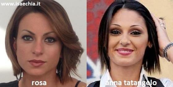Somiglianza tra Rosa e Anna Tatangelo