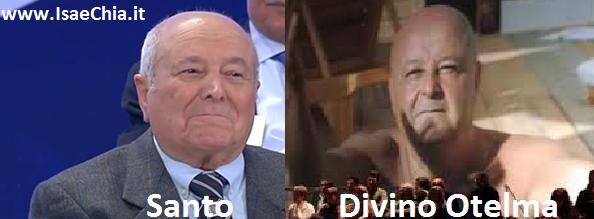 Somiglianza tra Santo del Trono over ed il Divino Otelma