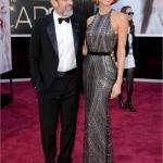 Oscar 2013 - George Clooney e Stacy Keibler