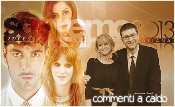 'Sanremo 2013': commenti a caldo