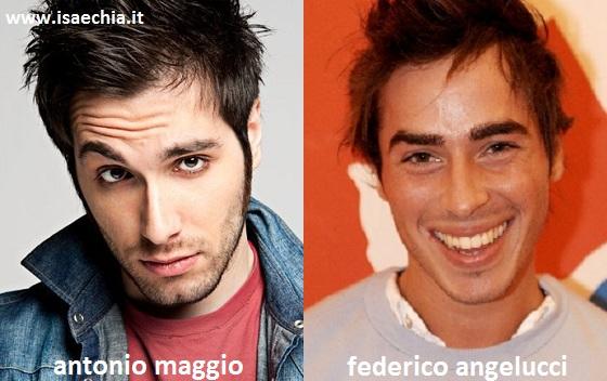 Somiglianza tra Antonio Maggio e Federico Angelucci