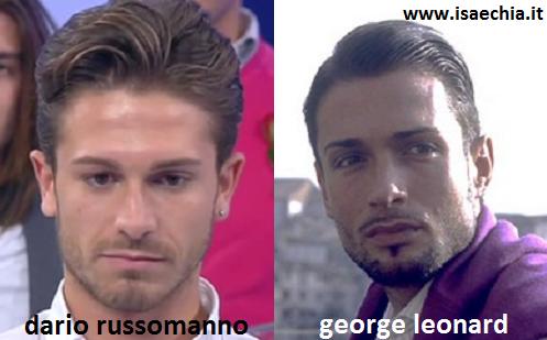 Somiglianza tra Dario Russomanno e George Leonard