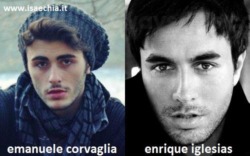 Somiglianza tra Emanuele Corvaglia ed Enrique Iglesias