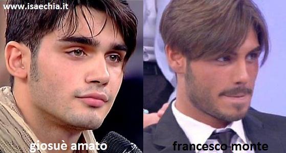 Somiglianza tra Giosuè Amato e Francesco Monte