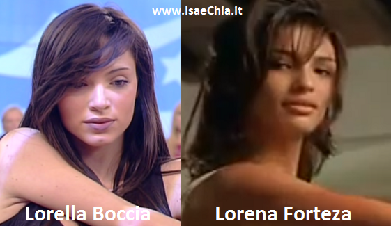 Somiglianza tra Lorella Boccia e Lorena Forteza