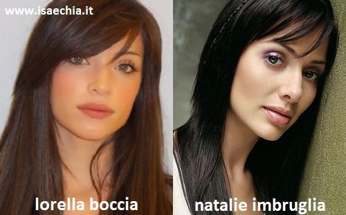 Somiglianza tra Lorella Boccia e Natalie Imbruglia