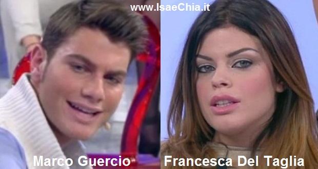 Somiglianza tra Marco Guercio e Francesca Del Taglia