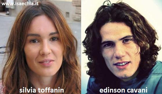 Somiglianza tra Silvia Toffanin e Edinson Cavani