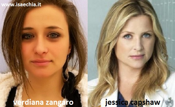 Somiglianza tra Verdiana Zangaro e Jessica Capshaw