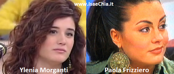 Somiglianza tra Ylenia Morganti e Paola Frizziero