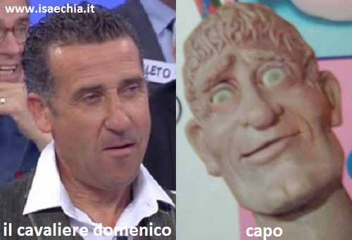 Somiglianza tra il cavaliere Domenico e Capo di Art Attack