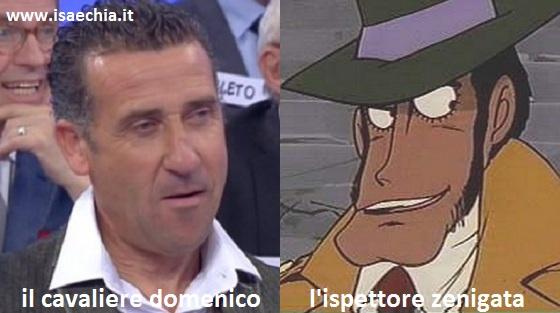 Somiglianza tra il cavaliere Domenico e l'ispettore Zenigata di 'Lupin III'