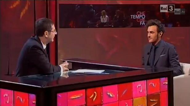 Marco Mengoni a Che tempo che fa
