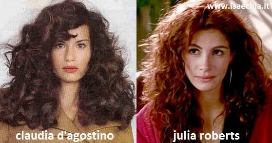Somiglianza tra Claudia D'Agostino e Julia Roberts