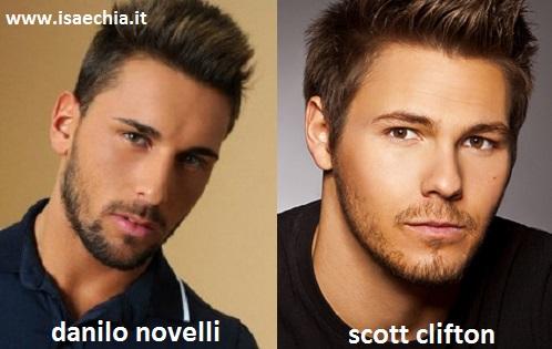 Somiglianza tra Danilo Novelli e Scott Clifton