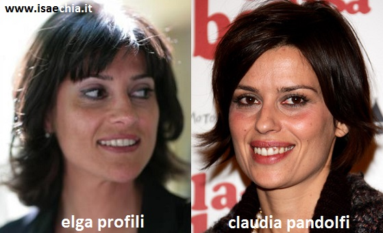 Somiglianza tra Elga Profili e Claudia Pandolfi