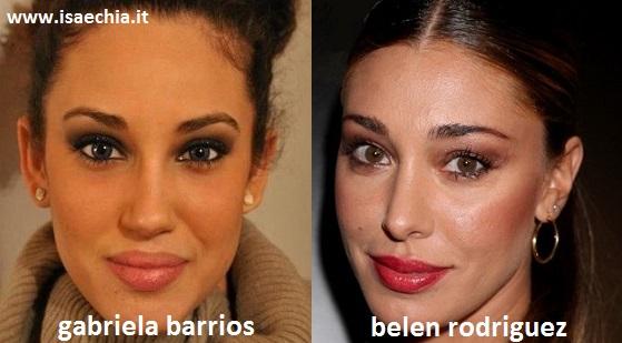 Somiglianza tra Gabriela Barrios e Belen Rodriguez
