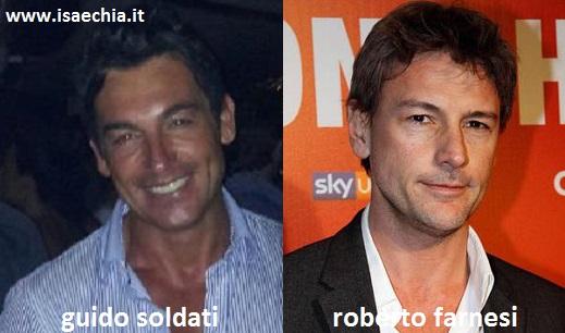 Somiglianza tra Guido Soldati e Roberto Farnesi