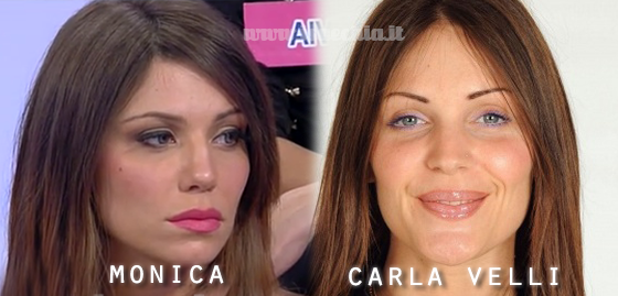 Somiglianza tra Monica e Carla Velli