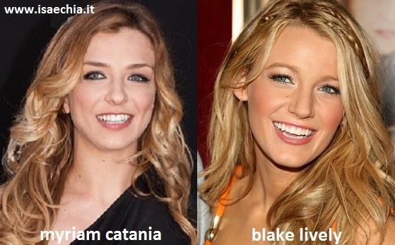 Somiglianza tra Myriam Catania e Blake Lively