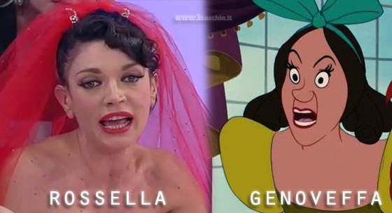 Somiglianza tra Rossella Bova e Genoveffa