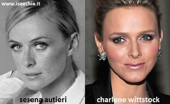 Somiglianza tra Serena Autieri e Charlene Wittstock