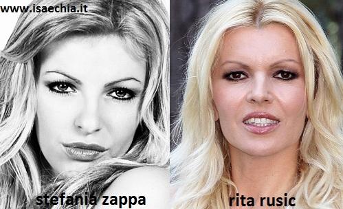 Somiglianza tra Stefania-Zappa e Rita Rusic