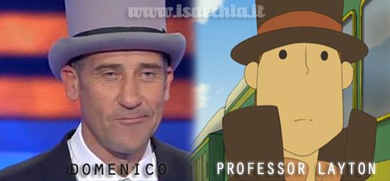 Somiglianza tra il cavaliere Domenico e il Professor Layton