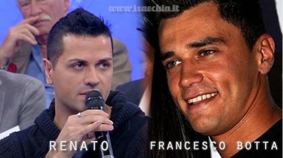 Somiglianza tra il cavaliere Renato e Francesco Botta